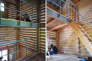 Cabaña Construida con Tubos de Carton, Arquitectura Ecoresponsable