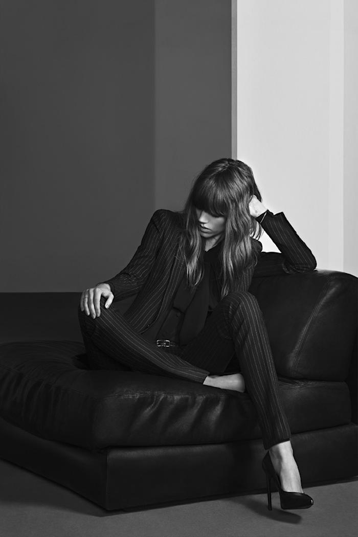 Freja Beha Erichsen for Saint Laurent by Hedi Slimane Pre-Fall 2013 Campaign Hedi Slimane
