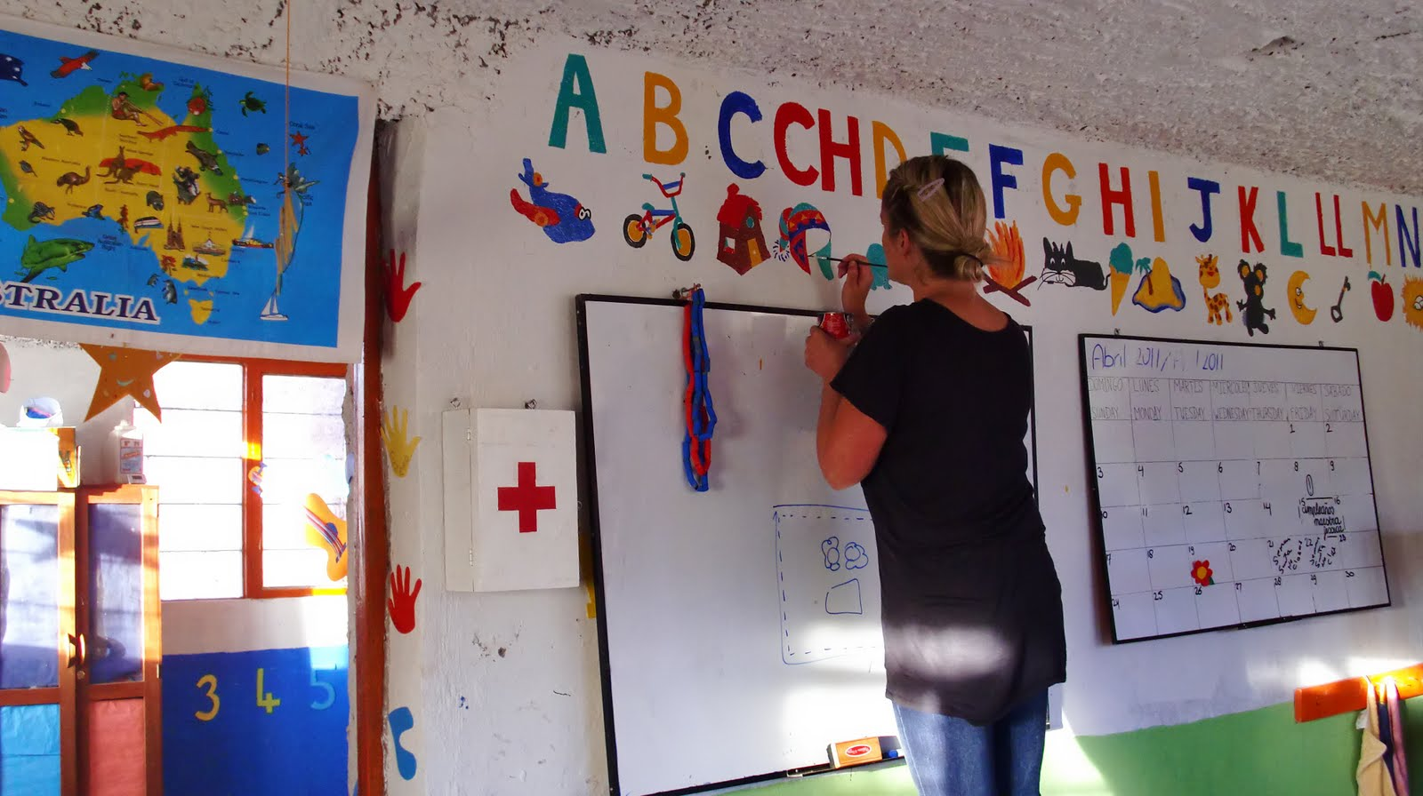 Sustainable education for Classroom mural