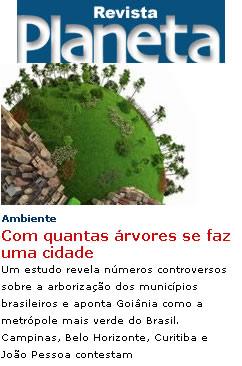 arborização dos municípios brasileiros
