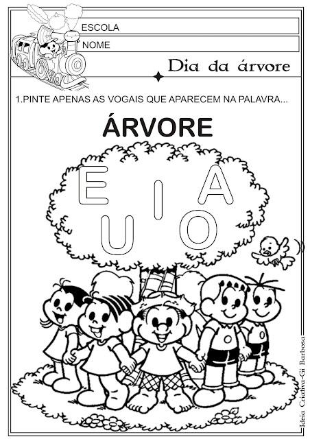 Atividade Vogais Dia da Árvore
