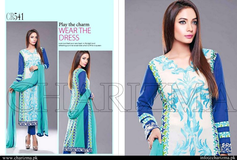 Charizma Range Vol-1 Summer 2015 - Embroidered Swiss Voil And Lawn Collection