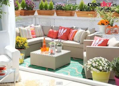 Decoracion de terrazas coloridas diseno de interiores for Terrazas acristaladas decoracion
