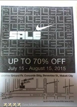 Nike Sale July 15, 2015