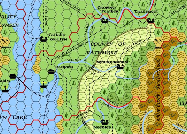 Mystara Alphatia Foresthome Rathmore map