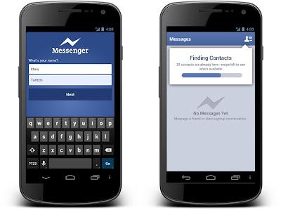 Facebook ofrece nuevo servicio de mensajería instantánea para dispositivos con Android