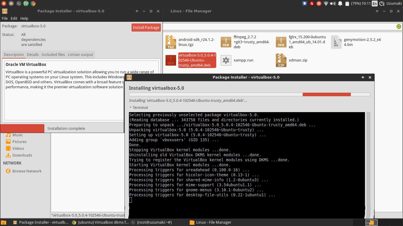 Tutorial install genymotion android emulator di backbox linux oke step pertama saya anggap sudah selesai baditri Image collections