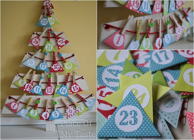 Diy+christmas+tree+advent+calendar+@placeofmytaste.com