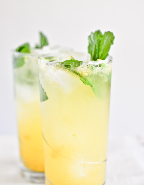 Savor Home: Happy Hour: Coconut Mango Mojitos