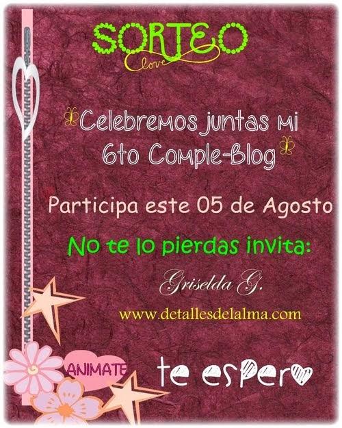 Sorteo en el blog de Griselda