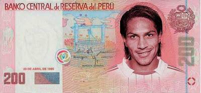 Seleccion Peruana en billetes de 200 y 100 soles