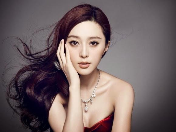 Girls Beauty Photography Fan Bingbing Red Dress