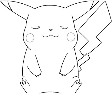 #7 Pikachu Coloring Page