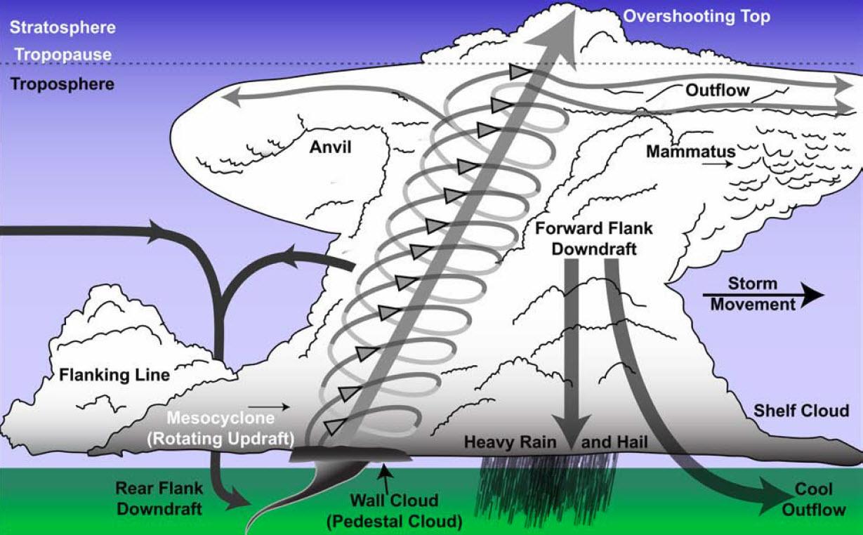 steve horstmeyer 39 s inside the forecast thunderstorm primer  : supercell diagram - findchart.co