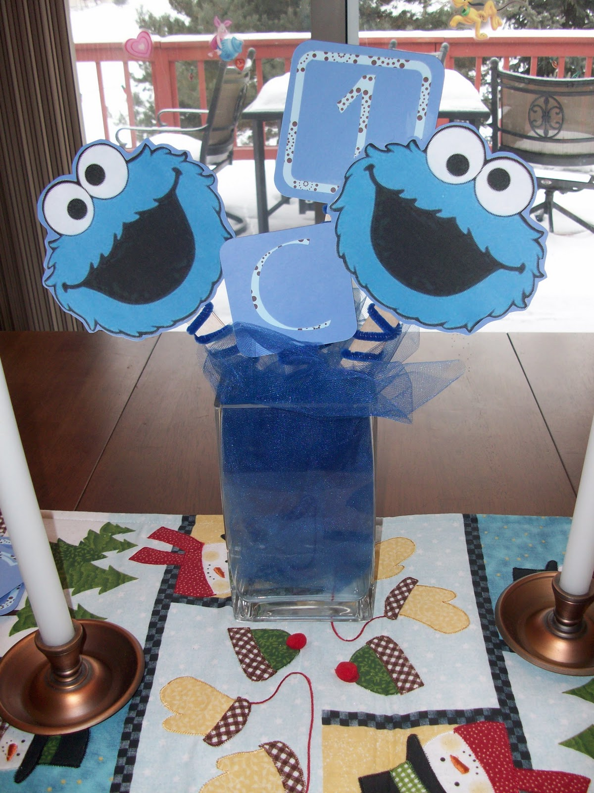 Ordinary Magic Cookie Monster themed Birthday Party