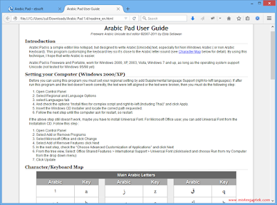 Cara Mudah Ketik Tulisan Bahasa Arab dengan Arabic Pad 1.4