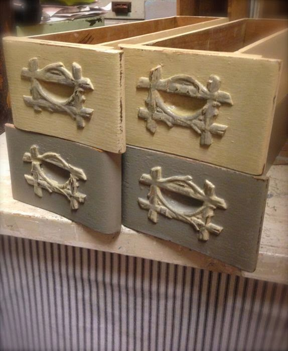 Antique sewing drawers rehab