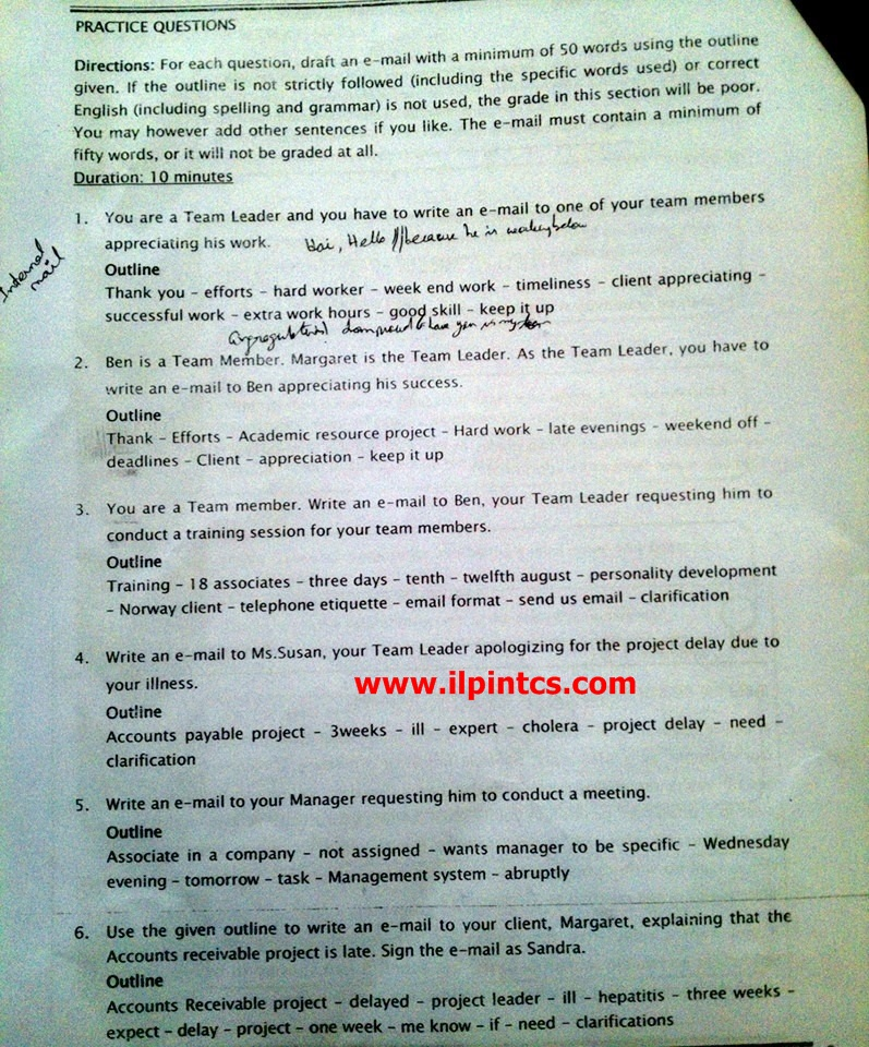 Tcs Preparation Ilp Write Letter And Essay For Tcs Recurement