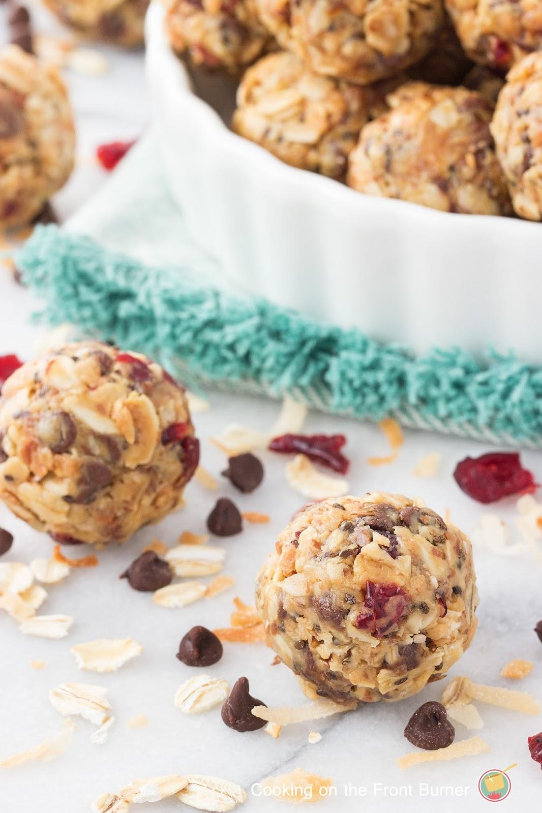 No Bake Energy Bites | Cooking on the Front Burner