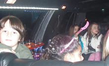 limousine super salon em aniversário infantil