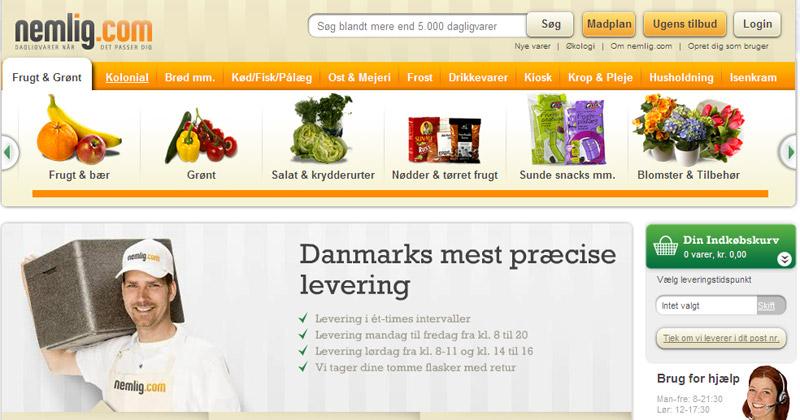 mad på nettet