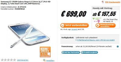 Ponsel samsung Galaxy Mega 6.3 inci