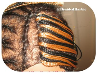 Crochet Braids No Knot Method : crochet weave method and the knot free crochet braid method was