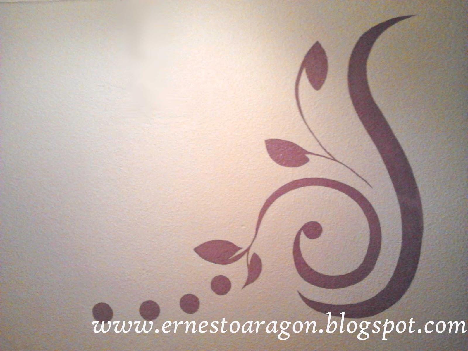 Ernesto arag n pintura para el hogar un vinilo a mano - Plantillas de decoracion ...