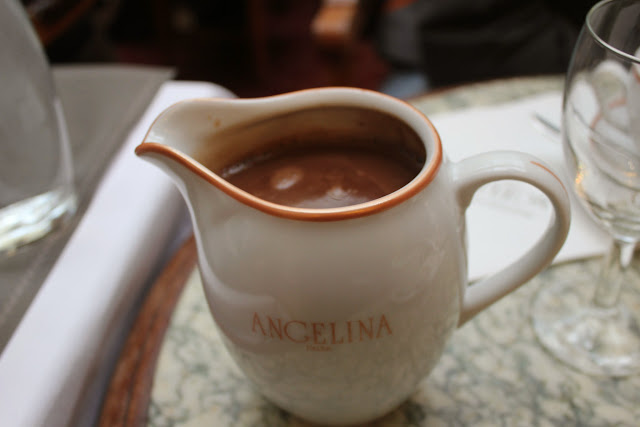 Hot chocolate L'Africain at Angelina, Paris