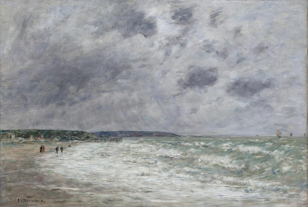 Eugène Boudin - marée montante à Deauville