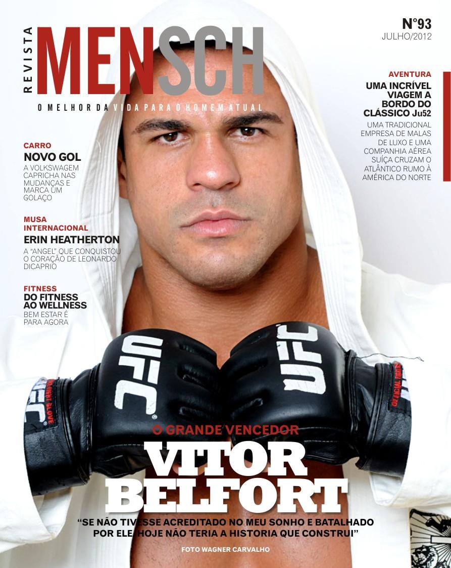 O lutador Vítor Belfort é capa da revista Mensch