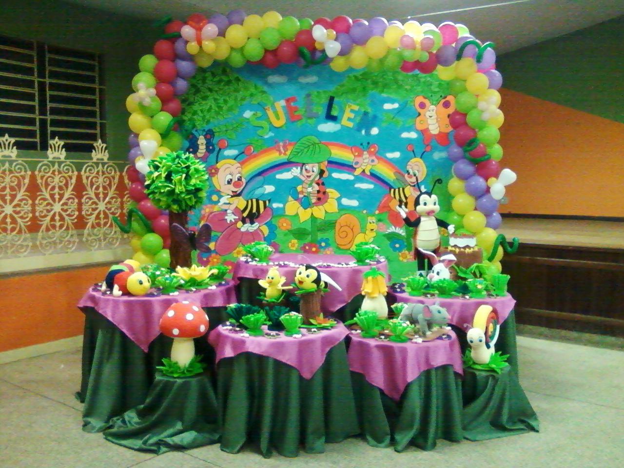 Festas e Decorações Decoração de aniversário do Jardim Encantado