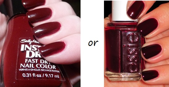 The Look For Less Burgundy Nail Polish