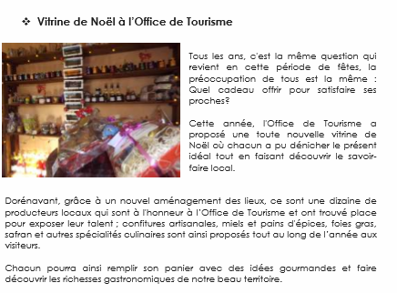 Info creuse allier la vitrine des produits du terroir l 39 office de tourisme evaux les bains - Office de tourisme de l allier ...