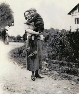Roland Barthes y su madre.