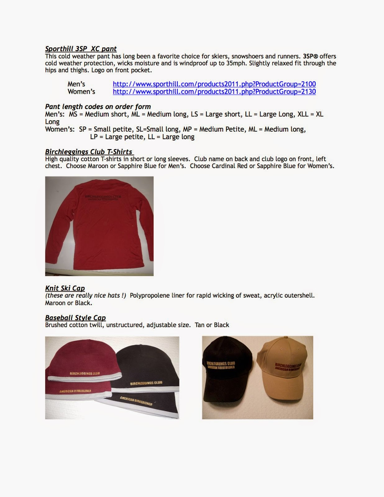 Birchlegger Clothing Pictures - Page 2