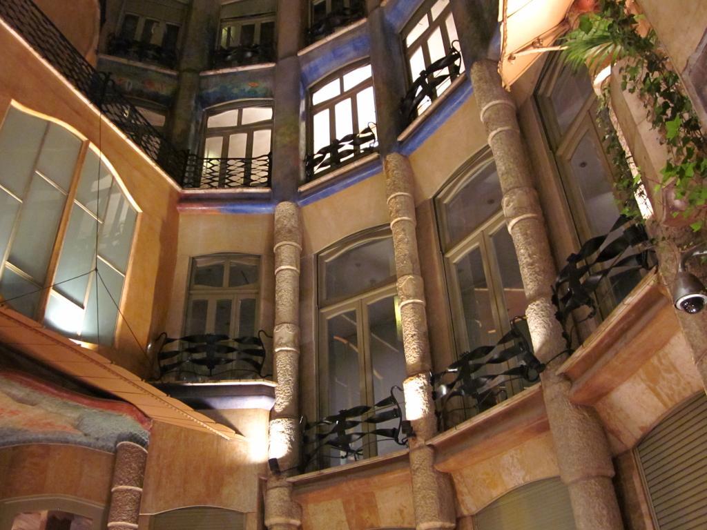 BARCELONA MODERNISM CASA MILA COURTYARD 2 jpgCasa Mila Courtyard