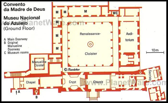 El museu nacional do azulejo en lisboa for South cathedral mansions floor plans