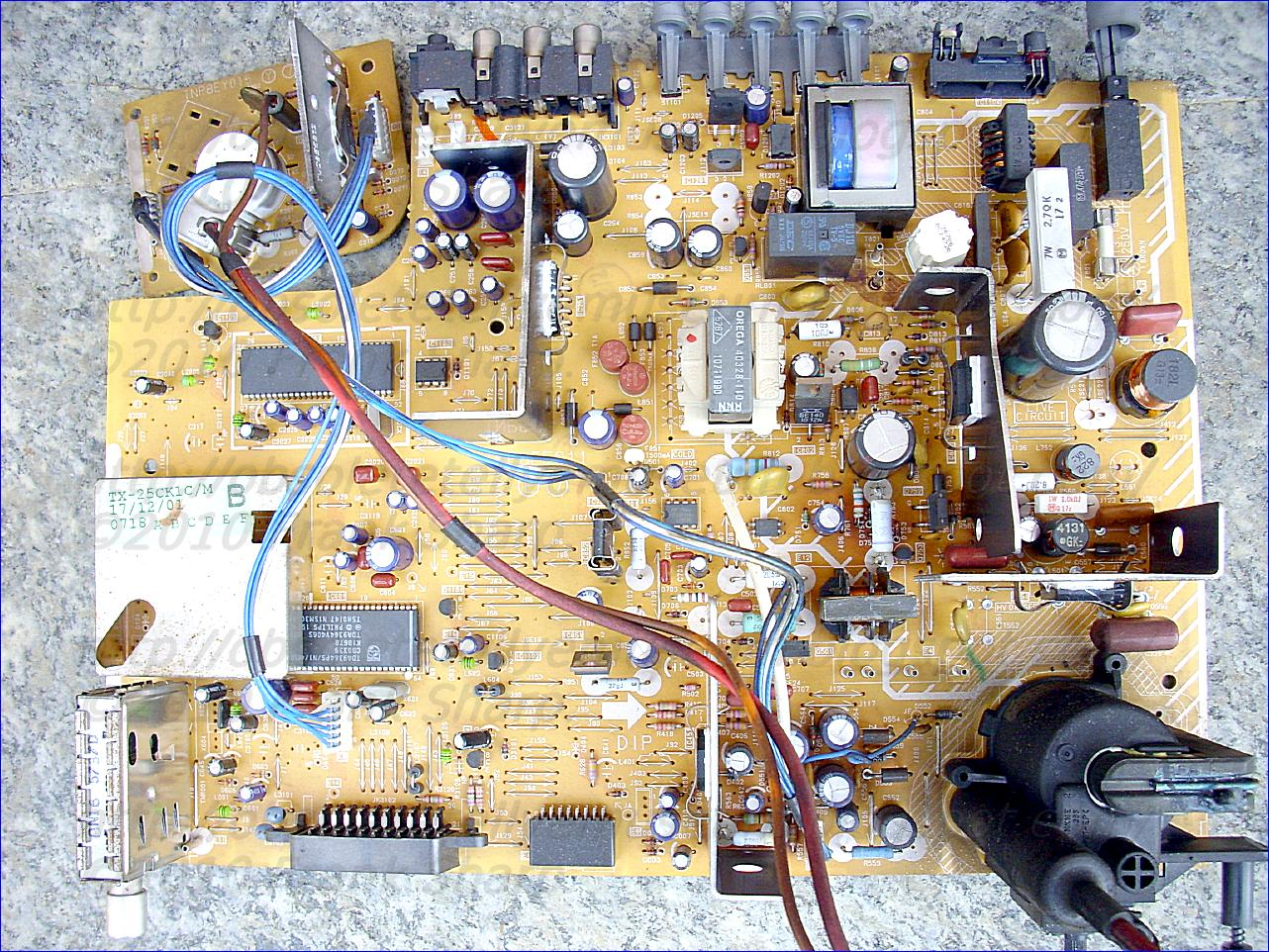 Obsolete Technology Tellye Panasonic Tx 25ck1c M Chassis Z8 Wiring Diagram Removed From The Power Supply Circuit