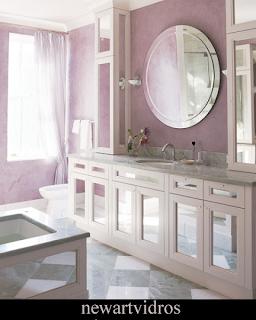 foto de espelho com bisote redondo