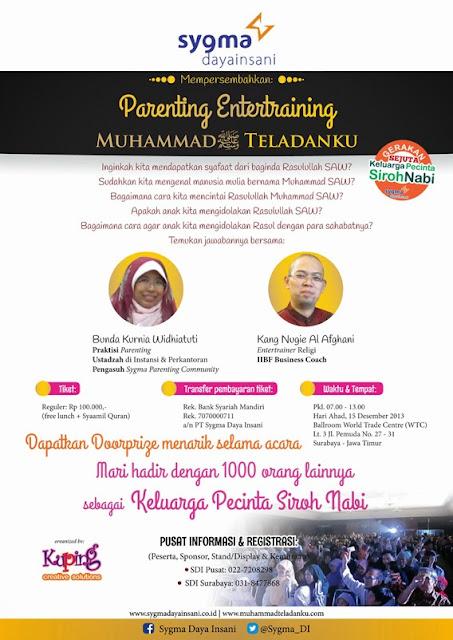 Parenting Entertraining - Muhammad Teladanku di Surabaya dan Bandung