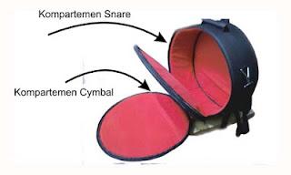 Tas Snare dan Cymbal 14 inch custom dengan busa tebal
