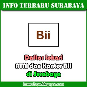 Lokasi ATM dan Kantor BII di Surabaya