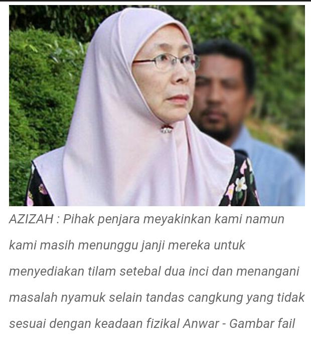 PEJUANG KALAH DENGAN NYAMUK Tidur Anwar terganggu kerana nyamuk kata Wan Azizah