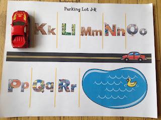 alphabet letter review activity for preschooler