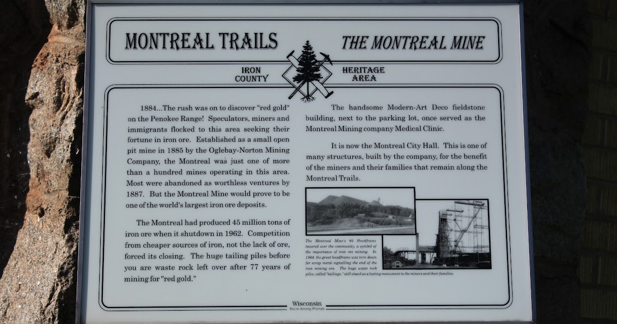 Wisconsin Historical Markers Montreal Trails The Montreal Mine