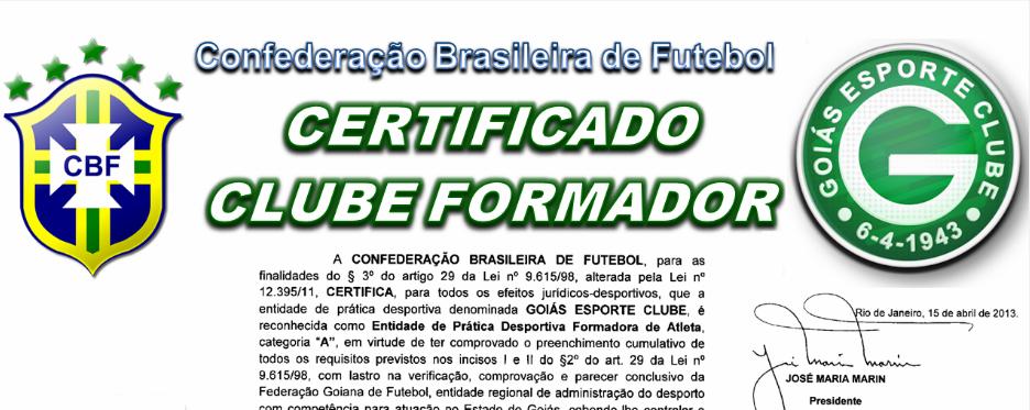 BLOG CLEUBER CARLOS  Goiás Recebe Certificado de Clube Formador de ... dc783efdb0bfd