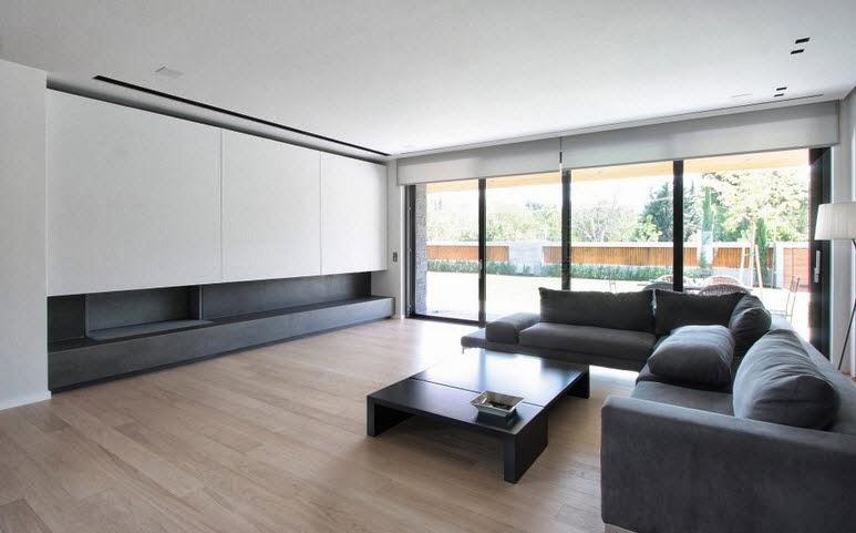 Dise o de dos casas modernas en un s lo terreno planos y for Pisos para interiores casas