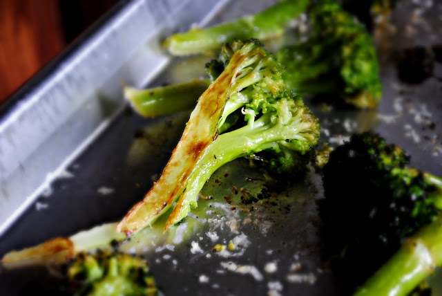 Roasted Broccoli with Lemon, Chili-Garlic Oil & Parmesan l SimplyScratch.com