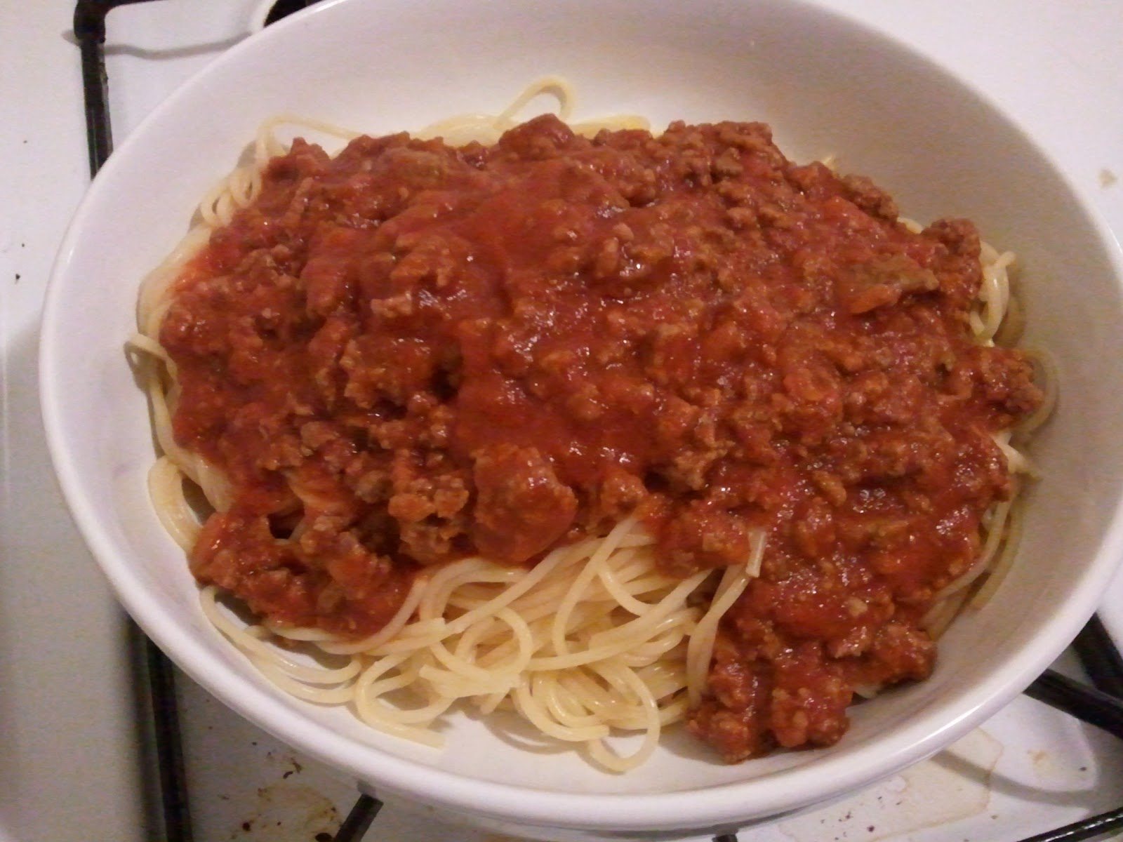 Matt's Spicy Spaghetti with Meat Sauce